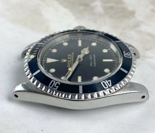 Vintage Rolex Submariner Dive Wristwatch Ref.  5513 RARE GILT SILVER EXCLAMATION 8