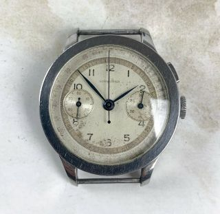 Vintage Longines 13zn Chronograph Wristwatch 35mm Coin - Edge Case Steel Nr