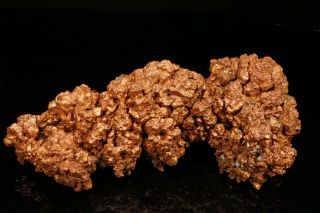 Extraordinary Rare Large Copper Crystal Cluster With Molybdenite Ogonja,  Namibia