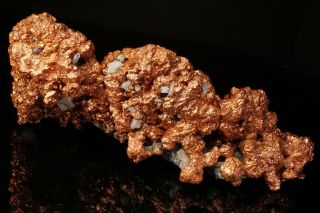 EXTRAORDINARY RARE Large Copper Crystal Cluster with Molybdenite OGONJA,  NAMIBIA 6