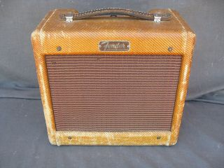 Vintage Late 1955 Fender Champ Amp,  Narrow Panel,  5e1,  Nr 5 Day