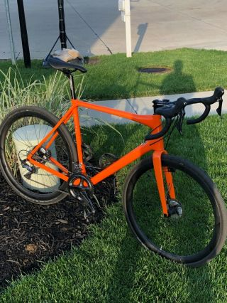 Rare Allied Alfa Allroad Carbon Fiber Bike Speed Orange 58,