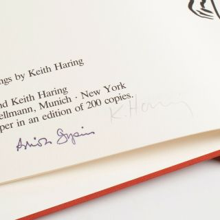 SIGNED Keith Haring,  Brion Gysin