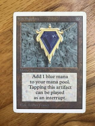 Mox Sapphire Unlimited Mtg Power 9 Vintage