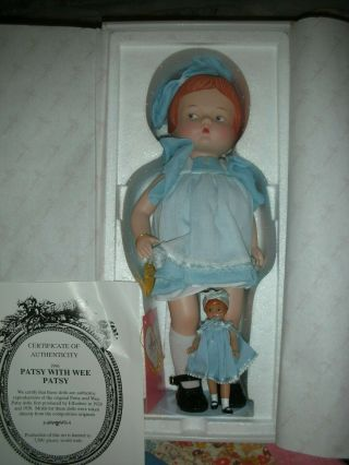 Rare Effanbee Porcelain Patsy Doll With Wee Pasty P226 Le Circa 1996 14 ""