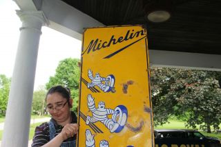 Rare Large Vintage 1930s Michelin Man Tires Gas Station 71