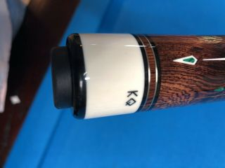 HIGHEND DAVE KIKEL CUE EXOTIC POINTS,  INLAYS,  JOINT,  BUTTCAP - - RARE 6