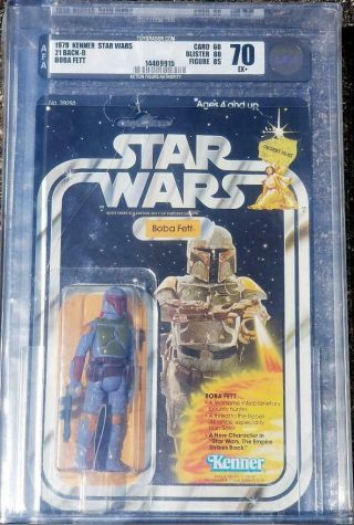1979 Kenner Star Wars Boba Fett Afa 70 21 Back B Rare Holy Grail