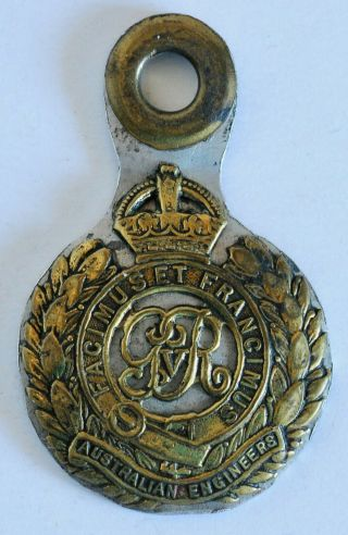 Ww Ii Australian Engineers Cap Badge And Dog Tag Nx 24497 - Totally Unique