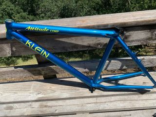 "Vintage Klein Attitude Comp Mountain Bike Frame 17 "" Serial 20t0498484p"