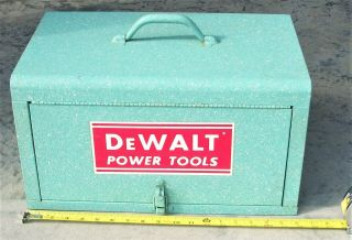 Rare Vintage Factory Accessory Box & Factory Goodies For Dewalt Radial Arm Saw