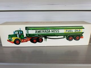 Rare Vintage Amerada Hess Fuel Oil Tanker Truck W/box,  Light