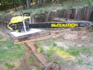 Mcculloch Sp125 125 Cp Pro Vintage Chainsaw Kart 797 790 36 In Bar 101b Stihl