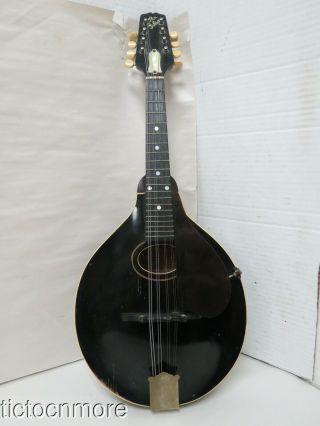 Vintage Gibson Style A - 1 Black 8 String Mandolin Guitar Serial No.  76295?