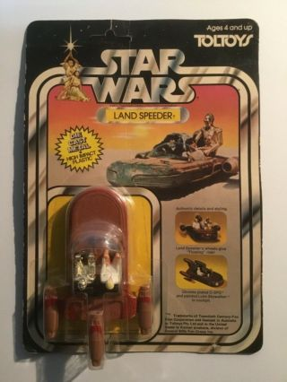 Rare Vintage Star Wars Kenner Toltoys Die - Cast Landspeeder Moc Australian Issue