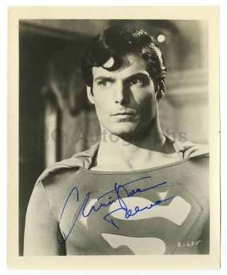 Christopher Reeve - Scarce In - Person Autographed Vintage Superman 8x10