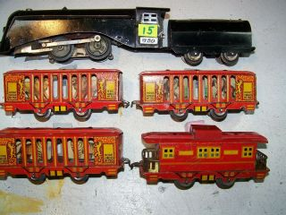 15,  Hoge Made In 1935 Circus Car Set,  I Year Only,  Rare,  Very Good