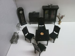 Vintage Rare Antique Miniature Dollhouse Furniture Fao Schwarz Made In Germany
