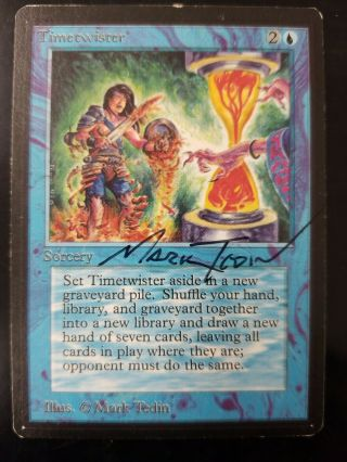 Vintage Magic | Signed Mtg Beta Timetwister,  Power 9