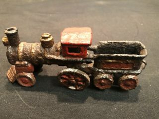 "Rare Old Toy Train & Tender Cast Iron 5 1/4 "" Long"