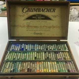 Vintage Grumbacher 180 Color Pastel Box Set - -