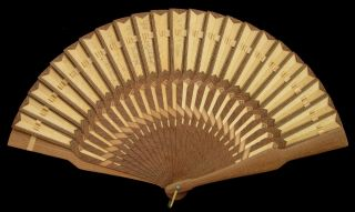 Very Rare Antique Micro Mosaic Brise Fan By Franz Podany Ca 1875 Eventail Fächer