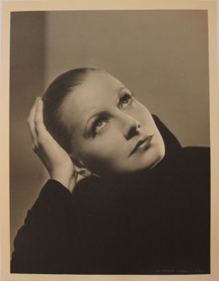 Greta Garbo Vintage Oversized Portrait Photograph (b3262) By C.  S.  Bull