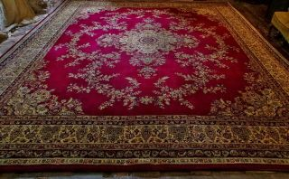 X Large Grosvenor Wilton Oriental Wool Rug 12x10ft Floral Tabris French Aubusson
