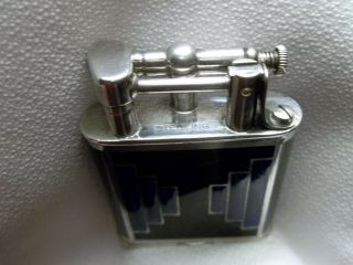 RARE 1927 DUNHILLL UNIQUE STERLING SWISS GLASS B SIZE LIFT ARM LIGHTER 5