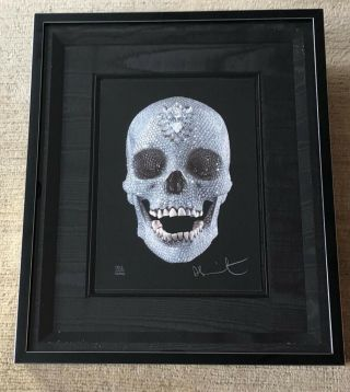Hand Signed For The Love Of God By Damien Hirst Rare Prnt Retails For Over $10 K