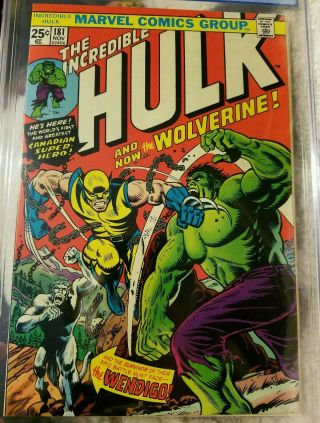 Incredible Hulk 181 9.  8 graded pgx 1st Wolverine.  Rare.  Logan movie. 3