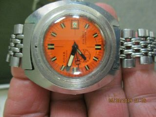 Extremely Rare Steel Doxa Sub 300 T Conquistador Diving Watch
