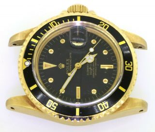 Rolex Submariner 1680 18K YG Rare Gilt nipple dial 5.  27mil serial watch head 2