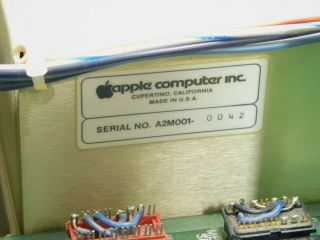 Apple II Vintage Computer Ventless Early Rev 0 Motherboard Case SN A2S1 - 0203 10
