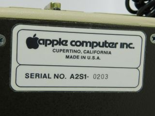 Apple II Vintage Computer Ventless Early Rev 0 Motherboard Case SN A2S1 - 0203 6