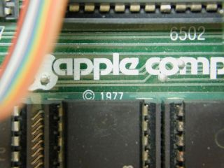 Apple II Vintage Computer Ventless Early Rev 0 Motherboard Case SN A2S1 - 0203 8