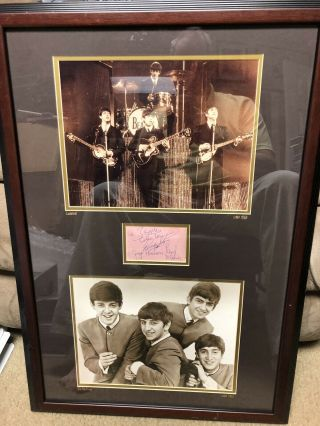 Rare Complete The Beatles Autographs With From JSA Authentic Signed 2