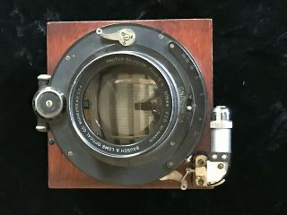 Antique 20s Bausch Lomb Zeiss Protar Viia Convertible Lens On Board,  F70,  305mm