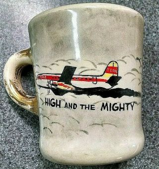 "Vintage John Wayne Cast And Crew Coffee Mug From "" The High And The Mighty 1954 """