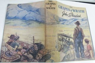 The Grapes Of Wrath/rare 1st Edition/john Steinbeck/ 1939/fine Binding