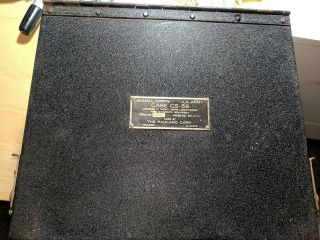 Wwii Signal Corps Us Army Case Cs - 56 Metal Box Only - The Rauland Corp Dated 1941