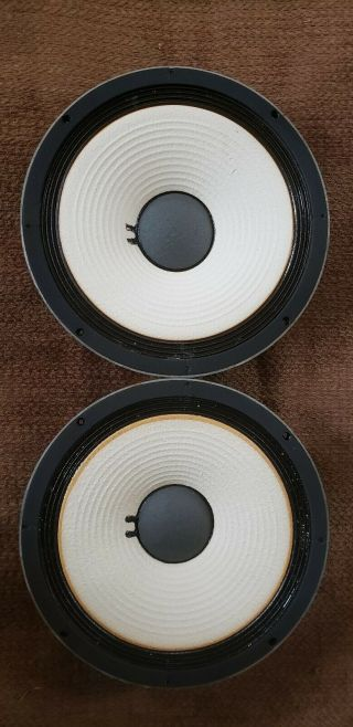 "Vintage Jbl 123a - 1 12 "" Woofer Speakers Pair"