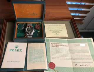 Vintage Rolex Red Submariner 1680 From 1970 1971 Sub Rare Punched Papers Nr