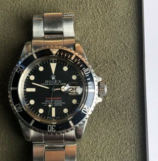 Vintage Rolex RED Submariner 1680 from 1970 1971 Sub Rare PUNCHED PAPERS NR 3