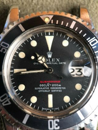 Vintage Rolex RED Submariner 1680 from 1970 1971 Sub Rare PUNCHED PAPERS NR 4