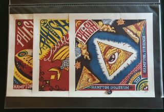 Jim Pollock Hampton 03 Set Of 3 Phish Print Posters Signed L/e Of Only 750 Rare