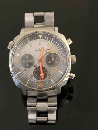 Zenith Chronograph Sub Sea A3736 All With Gf Bracelet