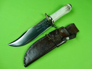 1962 Vintage Custom Hand Made Rudy R.  H.  Ruana Bowie 37 C Fighting Knife Stag