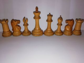 Antique Jaques Staunton Chess Set C 1865 To 70 Steinitz Knights Weighted Felted.