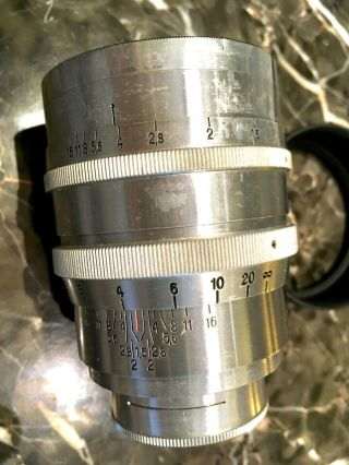 Zeiss Jena Biotar 75mm 7.  5cm F1.  5 Red T First Heavy Version 1942 WW2 RARE 7